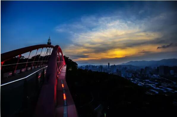 依恋晋安 驻足于金鸡山公园眺望欣赏落日美景