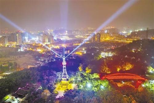 晋安金鸡塔完成夜景灯光改造