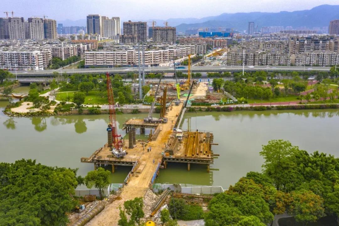 晋安远洋路至鳌峰路新建跨河大桥 预计年底投用