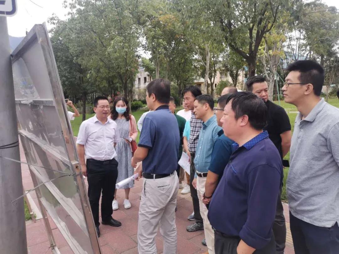 林涛区长调研重点项目周边配套路网建设和环境整治提升情况以及城市品质提升工作
