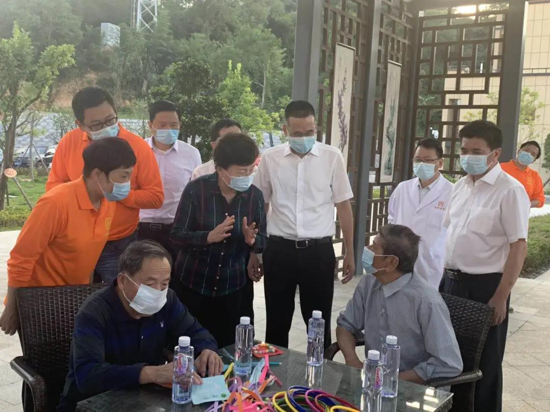 省民政厅领导赴晋安区社会福利中心调研